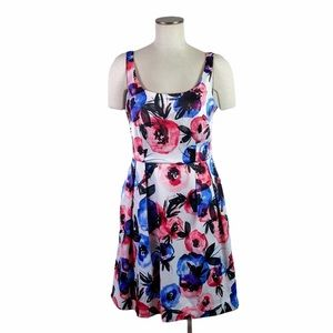 Luxe by Carmen Marc Valco Floral Cocktail Dress 8